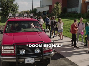 "Title Card for ""Doom Signal""."