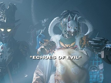 "Title Card for ""Echoes of Evil""."