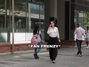 "Title Card for ""Fan Frenzy""."