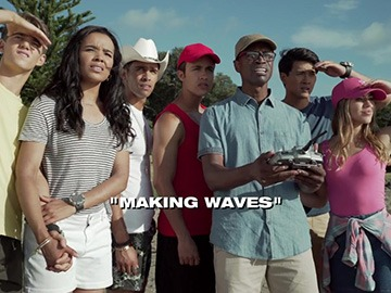 "Title Card for ""Making Waves""."