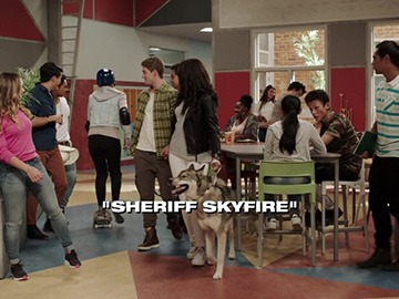"Title Card for ""Sheriff Skyfire""."