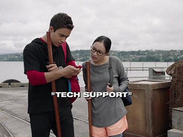 "Title Card for ""Tech Support""."