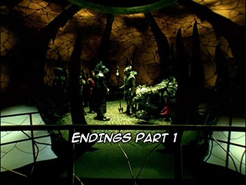 "Title Card for ""Endings Part 1""."