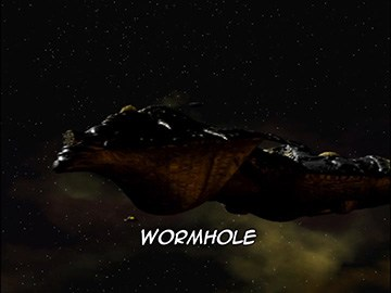 "Episode Title Card for ""Wormhole""."