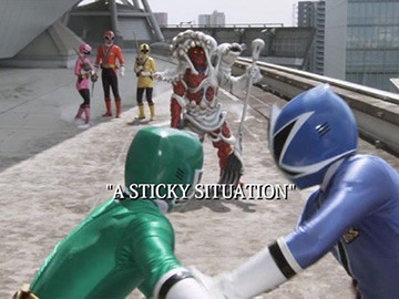 "Title Card for ""A Sticky Situation""."