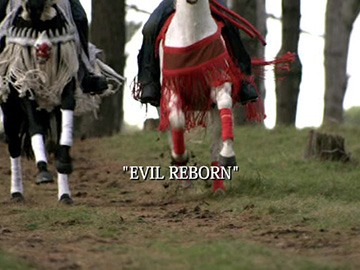 "Title Card for ""Evil Reborn""."