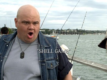 "Title Card for ""Shell Game""."