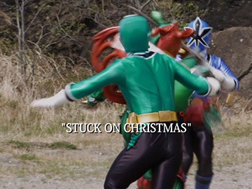 "Title Card for ""Stuck on Christmas""."