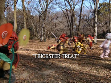 "Title Card for ""Trickster Treat""."