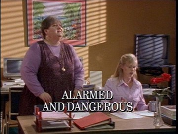 "Episode Title Card for ""Alarmed and Dangerous"""