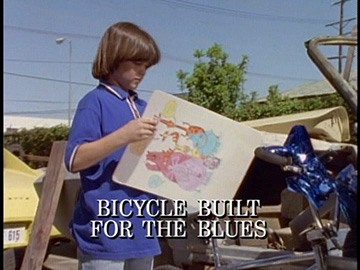 "Title Card for ""Bicycle Built for the Blues""."