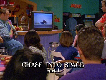 "Title Card for ""Chase into Space Part I""."