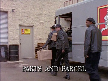 "Episode Title Card for ""Parts and Parcel"""