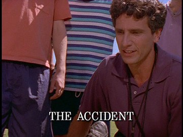 "Episode Title Card for ""The Accident""."