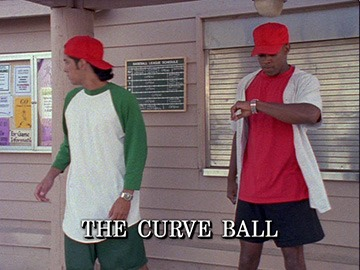 "Episode Title Card for ""The Curve Ball""."