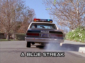 "Title Card for ""A Blue Streak""."