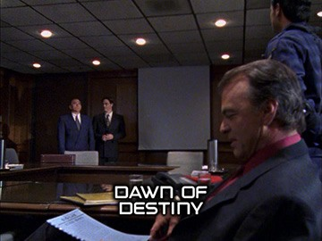 "Title Card for ""Dawn of Destiny""."