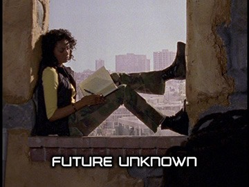 "Title Card for ""Future Unknown""."