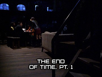"Episode Title Card for ""The End of Time, Pt. 1""."