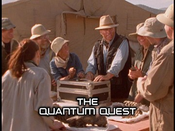 "Episode Title Card for ""The Quantum Quest""."