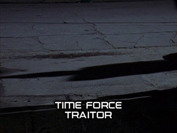 "Episode Title Card for ""Time Force Traitor""."