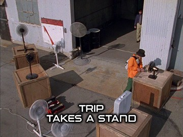 "Title Card for ""Trip Takes a Stand""."