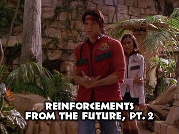 "Title Card for ""Reinforcements from the Future, Pt. 2""."