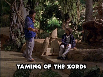 "Title Card for ""Taming of the Zords""."