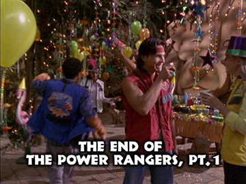 "Title Card for ""The End of the Power Rangers, Pt. 1""."