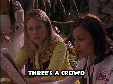 "Title Card for ""Three's a Crowd""."