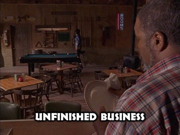 "Title Card for ""Unfinished Business""."