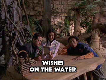 "Title Card for ""Wishes on the Water""."
