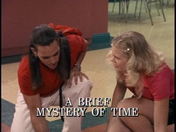 "Title Card for ""A Brief Mystery of Time""."