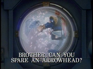 "Episode Title Card for ""Brother, Can You Spare an Arrowhead?"""