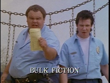 "Title Card for ""Bulk Fiction""."