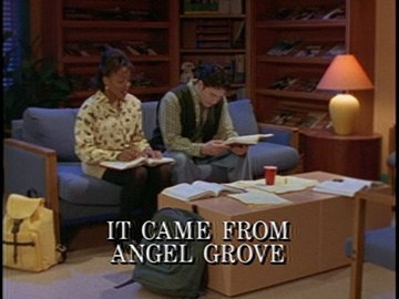 "Episode Title Card for ""It Came from Angel Grove""."