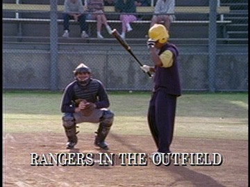 "Title Card for ""Rangers in the Outfield""."