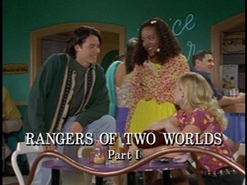 "Title Card for ""Rangers of Two Worlds Part I""."