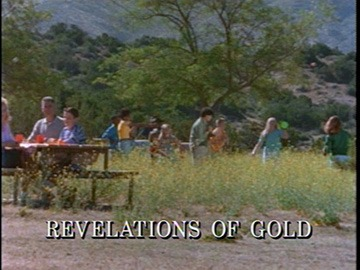 "Episode Title Card for ""Revelations of Gold""."