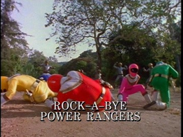 "Episode Title Card for ""Rock-A-Bye Power Rangers""."