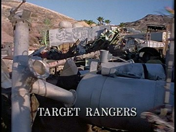 "Episode Title Card for ""Target Rangers""."
