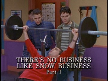 "Episode Title Card for ""There's No Business like Snow Business Part I"""