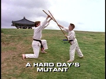 "Title Card for ""A Hard Day's Mutant""."