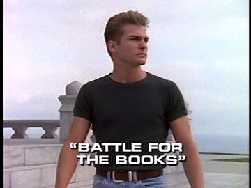 "Title Card for ""Battle For the Books""."