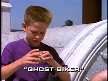 "Title Card for ""Ghost Biker""."
