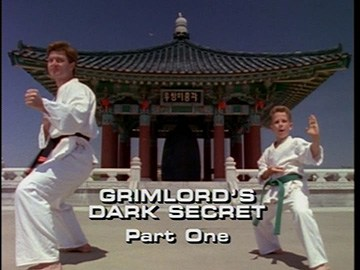 "Title Card for ""Grimlord's Dark Secret, Part One""."