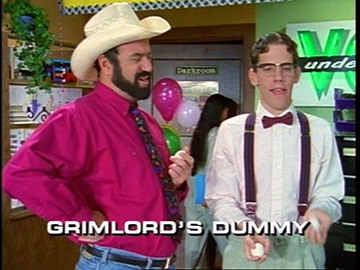 "Title Card for ""Grimlord's Dummy""."