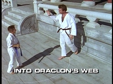 "Title Card for ""Into Oraclon's Web""."