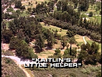 "Title Card for ""Kaitlin's Little Helper""."