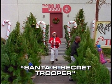 "Title Card for ""Santa's Secret Trooper""."